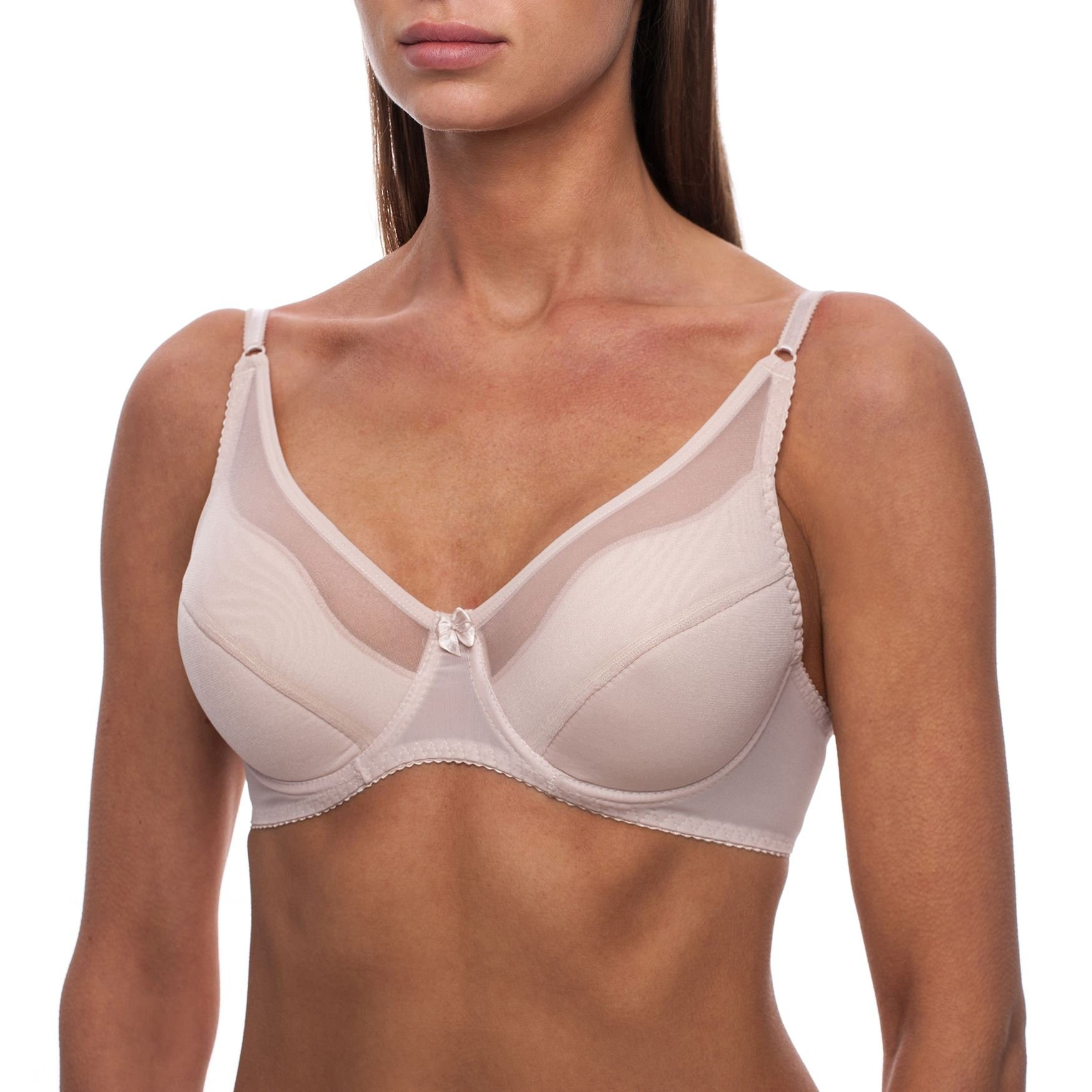 frugue Women's Underwire Full Coverage Plus Size Minimizer Padded Bra