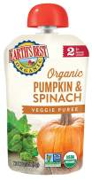 Earth's Best Organic Stage 2 Baby Food, Pumpkin and Spinach, 3.5 oz. Pouch (Pack of 12)
