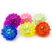 Fun Central 24 Pack - LED Light Up Jelly Bumpy Rings Bulk Party Favor - Blinky Rings for Bar and Parties - Assorted Pack