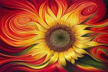 Diamond Painting Kits Fantasy Sunflower by LUHSICE, 45x65cm