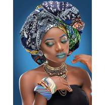 """SKRYUIE 5D Diamond Painting Full Drill African Customs Exotic Women Paint with Diamonds Arts by Number Kits Embroidery DIY Craft Set Arts Decorations 30x40cm (12""""x16"""")"""