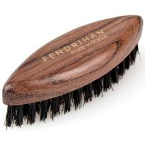 Fendrihan Oval Bubinga Wood and Boar Bristle Beard and Mustache Brush 3.14 Inches (Made in France)
