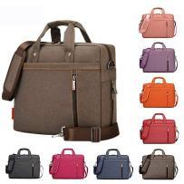 Samaz Laptop Bag Nylon Shakeproof Laptop Messenger Shoulder Bag Laptop Sleeve Cover Briefcase with Shoulder Strap for 13 Inch Laptop/Notebook/Ultrabook/Macbook Pro Retina Case (Brown)