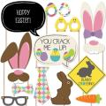 Big Dot of Happiness Hippity Hoppity - Easter Party Photo Booth Props Kit - 20 Count
