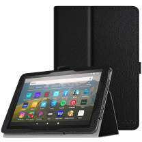TiMOVO Folio Case for All-New Fire HD 8 Tablet (10th Generation, 2020 Release) - Premium Slim Folding PU Leather Stand Cover Case with Auto Wake/Sleep Fit Fire HD 8 & 8 Plus 2020 - Black