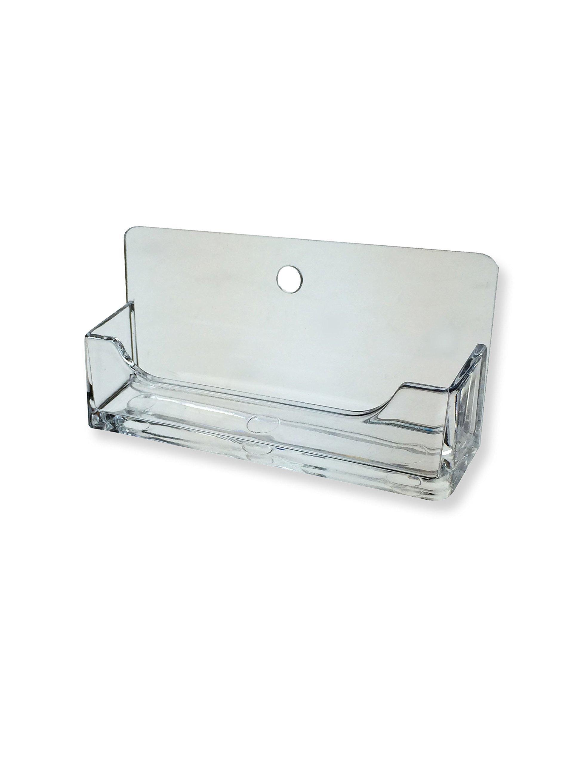 Marketing Holders Single Wall Business Card Display Rack Premium Acrylic Qty 1