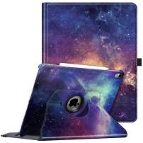 Fintie Rotating Case for iPad Pro 12.9 3rd Gen 2018 [Supports 2nd Gen Pencil Charging Mode] - 360 Degree Rotating Stand Protective Cover with Auto Sleep/Wake, Galaxy
