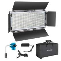 Neewer 960 LED Video Light Photography LED Lighting Dimmable 3200-5600K, Metal Frame with Barndoor, DC Adapter/Battery Power for Studio Portrait Product Video Film Shooting (Battery Not Include)
