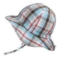 Jan & Jul Cute Newborn Baby Boy Breathable Summer Sun Hat 50 UPF, Adjustable & Foldable (S: 0-9m, Floppy Hat: Summer Plaid)