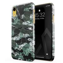 BURGA Phone Case Compatible with iPhone XR - Jade Green Military Forest Marble Camo Camouflage Cute Case for Women Thin Design Durable Hard Plastic Protective Case