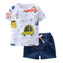 Boy Short Sleeve T-Shirt and Shorts Kid 2 Pcs Summer Outfit Clothing Set …