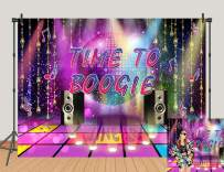 70s 80s Theme Party Decorations Disco Photography Backdrop Banner 70's 90s Photo Booth Backdrop Wall Decorating for Disco Birthday Party Decoration Supplies Studio Props 7x5ft