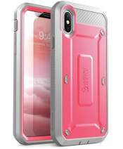SUPCASE [Unicorn Beetle Pro Series] Case for iPhone Xs , iPhone X ,Full-Body Rugged Holster Case with Built-In Screen Protector Kickstand for iPhone X 2017 & iPhone Xs 5.8 inch 2018 Release (Pink)