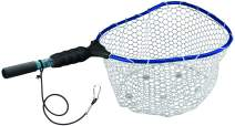 "EGO Fishing Net, Kayaking & Wading Design, Floating Net Salt & Freshwater, Non-Slip Grip, Personal Carry, Aluminum Clip on Tether, 11"" Handle"