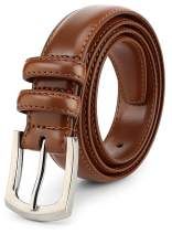 Men's Dress Belt 'ALL GENUINE LEATHER' Stitching 30mm Regular Big and Tall Sizes