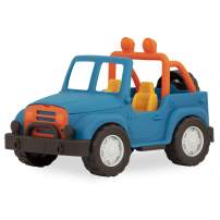 Wonder Wheels by Battat – 4 X 4 – Blue Off-Road Toy Truck with Spare Tire & Detailed Engine for Toddlers Age 1 & Up – 100% Recyclable