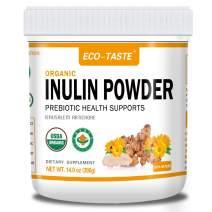 Organic Inulin Powder, 14 oz(396g), USDA Organic Certified, Natural Fiber Prebiotic from Jerusalem Artichoke, Unflavored