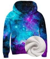 Idgreatim Boys Girls Novetly Hoodies 3D Print Pullover Hooded Sweatshirts with Pockets 5-13 Years