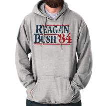Brisco Brands Ronald Reagan George Bush 84 Election POTUS Hoodie