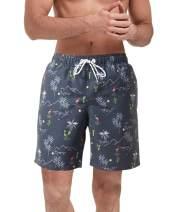 Malavita Mens Swim Trunks Mens Bathing Suits Quick Dry Swim Shorts with Mesh Lining