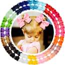 "40pcs 4.5"" Hair Bows Clips Grosgrain Ribbon Bows Hair Alligator Clips Hair Barrettes Hair Accessories for Baby Girls Toddler Infants Kids 20 Colors in Pairs"