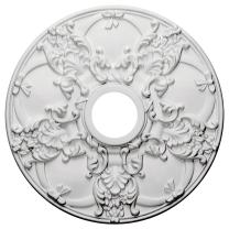 """Ekena Millwork CM18NO Norwich Ceiling Medallion, 18""""OD x 3 1/2""""ID x 1 3/8""""P (Fits Canopies up to 4 1/2""""), Factory Primed"""