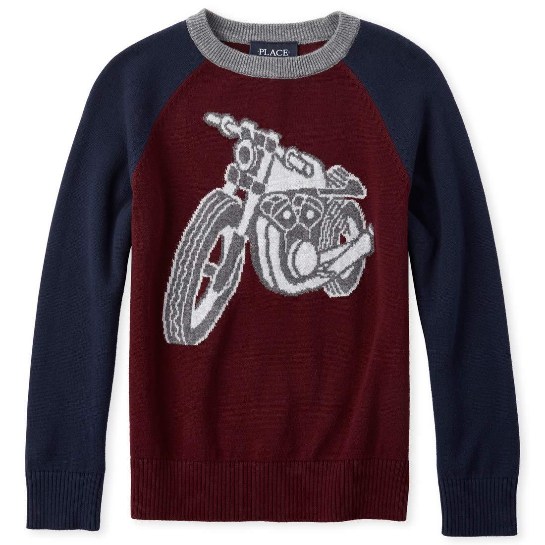 The Children's Place Boys' Big Graphic Raglan Sweater