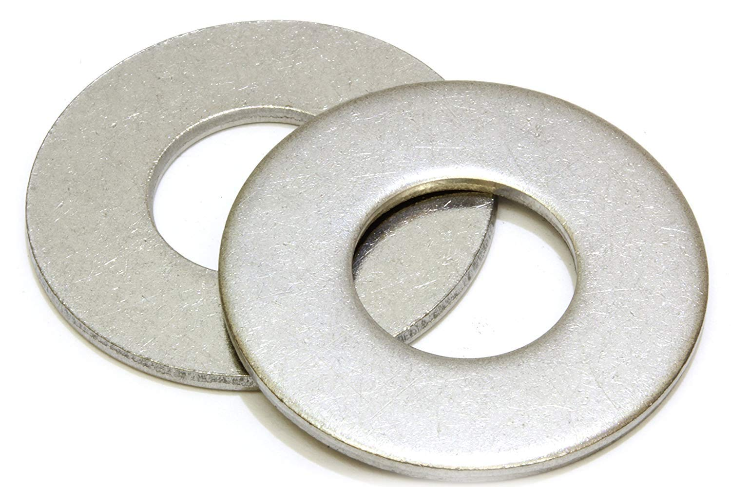 "5/16"" Stainless Flat Washer, 3/4"" Outside Diameter (100 Pack) - Choose Size, by Bolt Dropper, 18-8 (304) Stainless Steel"