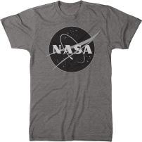 NASA Meatball Logo Black &White Men's Modern Fit Tri-Blend T-Shirt