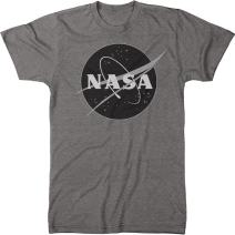 NASA Meatball Logo Black &White Men's Modern Fit Tri-Blend T-Shirt