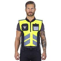 Viking Cycle High Visibility Safety Waterproof Reflective Motorcycle Vest