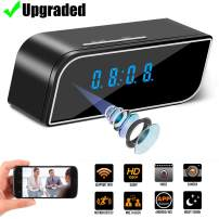 Hidden Camera with Clock,Mini WiFi HD 1080P Security Surveillance Cameras Nanny Cam with Motion Detection,Video Recording/Remote Monitoring