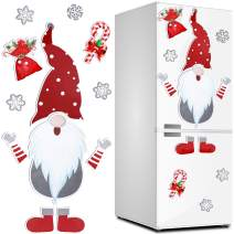 Christmas Gnome Magnets Set Christmas Refrigerator Magnets Christmas Gnome Magnet Stickers for Christmas Holiday Decorations, Fridge, Metal Door, Office Cabinets Decor