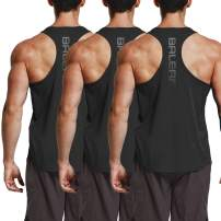 BALEAF Men's Workout Gym Tank Top Y-Back Sleeveless Bodybuilding Muscle T Shirts 3 Pack