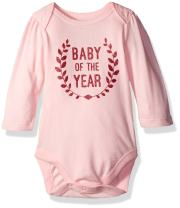 The Children's Place Baby Girls' Short Sleeve Bodysuit (Pack of 5)