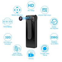 Mini Spy Camera-Body Cam - Body Camera 6 Hours Battery Life 32GB Card Included 1080P Spy Camera No WiFi Needed Motion Detection Personal Camera for Home and Office
