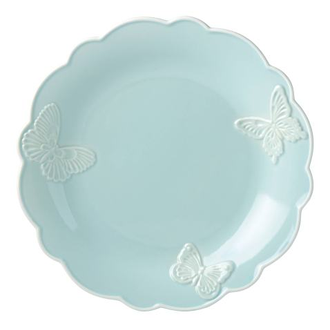 """Lenox Butterfly Meadow Carved Blue 11"""" Dinner Plate"""
