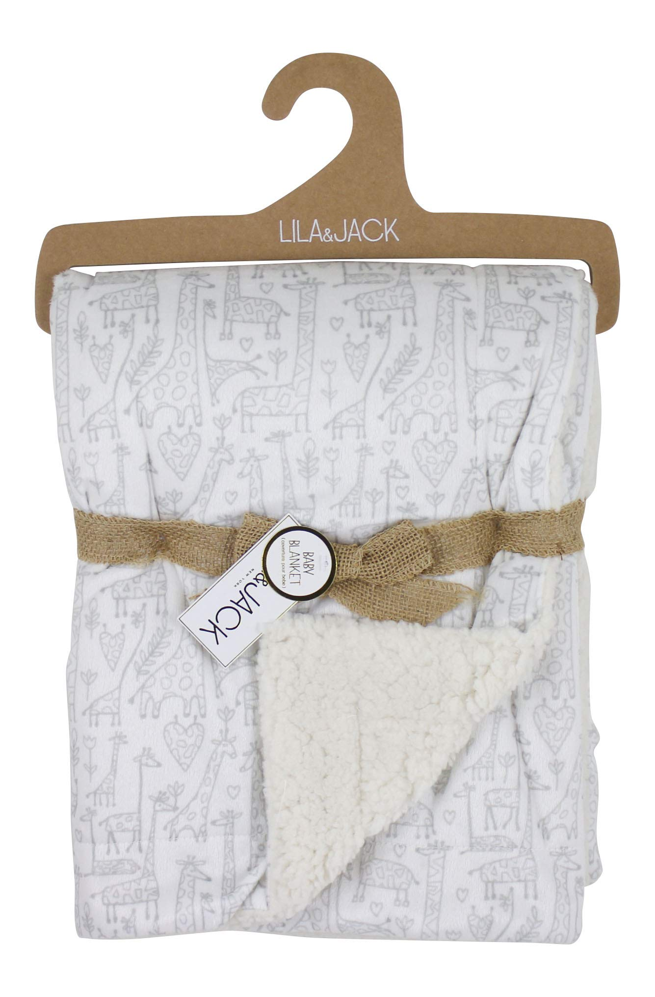 Lila and Jack Soft Baby Blanket - Soft Minky Blanket Perfect, Crib Blanket, Baby Car Blanket & More. Plush Blanket Perfect for Newborns and Toddlers (Giraffe)
