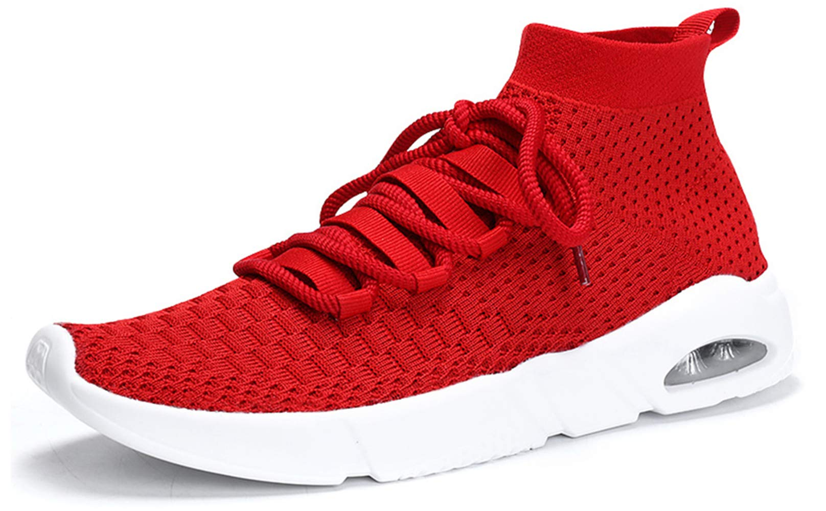 Ezkrwxn Men mesh Sport Walking Shoes Breathable Comfort Fashion Casual Tennis Trail Sneakers Gym Jogging Running Trainers Red Size 11 (1806-red-45)