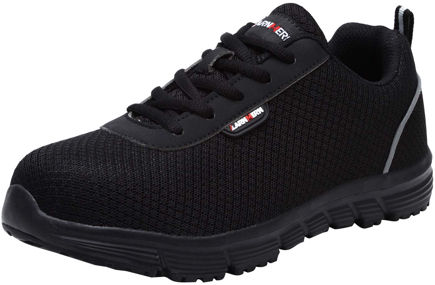 LARNMERN Steel Toe Shoes for Women,Breathable and Comfortable Work Shoes for Women