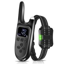 SNEDIY Dog Training Collar with Remote,Waterproof Rechargeable Dog Shock Collar with Beep,Vibration and Shock Training Modes, Up to 2600Ft Remote Range,Adjustable 0 to 99 Shock Levels