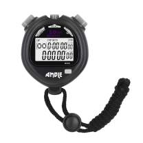 Amble Stopwatch, Countdown Timer and Stopwatch Record 10 Memories Lap Split Time with Tally Counter and Calendar Clock with Alarm for Sports Coaches and Referees