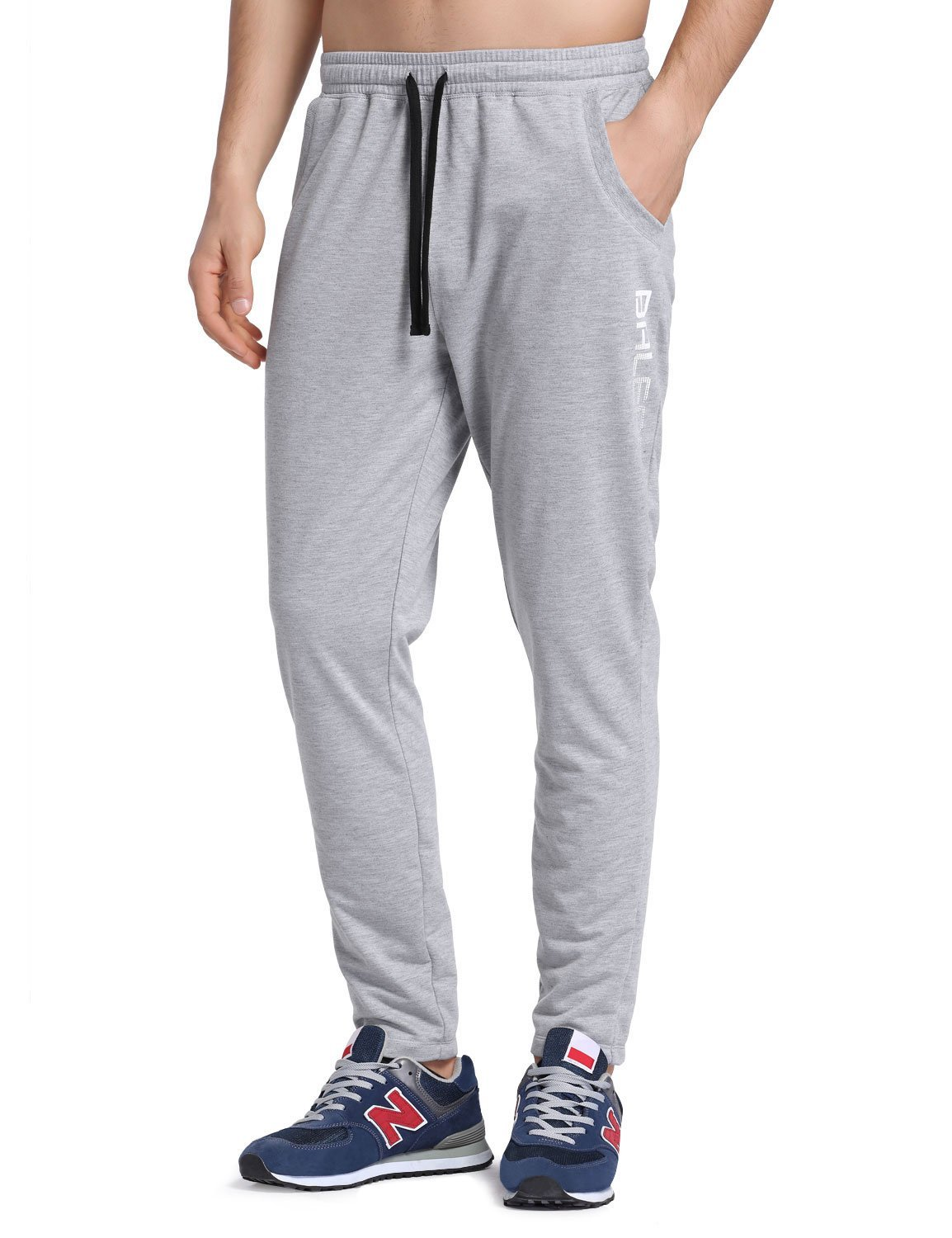 BALEAF Men's Tapered Athletic Running Pants Joggers Lounge Workout Sweatpants