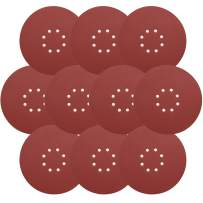 9 Inch Sandpaper, GOH DODD Hook & Loop 8-Hole Sander Sheets 100 Grits Grinding Abrasive Sanding Disc for Wood Furniture Drywall Finishing, Metal Sanding and Mirror Jewelry Car Polishing, 10 Pack