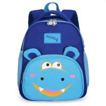 Cute Kids Backpack Cartoon Bear School Bag with Safety Harness Leash for Boy and Girls (Blue)