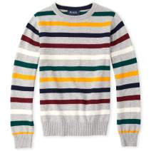 The Children's Place Boys' Big Striped Crew Neck Sweater