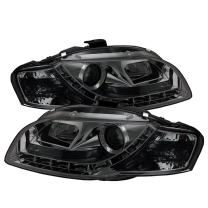 Spyder Auto PRO-YD-AA405-DRL-SM Audi A4 Smoke DRL LED Projector Headlight