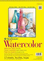 """Strathmore 360-9 300 Series Watercolor Pad, Cold Press, 9""""x12"""" Wire Bound, 12 Sheets"""
