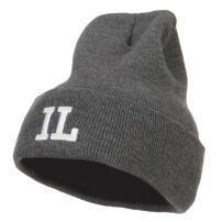 e4Hats.com IL Illinois State Embroidered Long Beanie