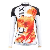 ILPALADINO Women's Cycling Jersey Long Sleeve Biking Shirts Animals Pattern